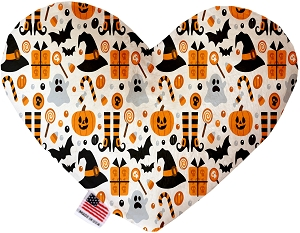 Classic Halloween 6 inch Stuffing Free Heart Dog Toy
